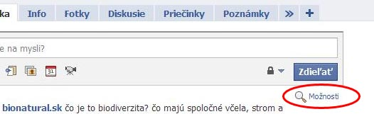 Facebook-moznosti
